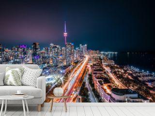 Toronto Night Skyline Looking East