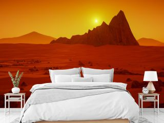 a great day on Mars (3d rendering)