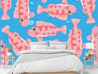 Vector illustration of the decorative pattern of the sea perch