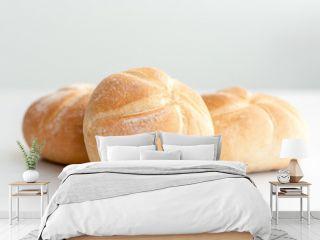 A few freshly baked bread rolls