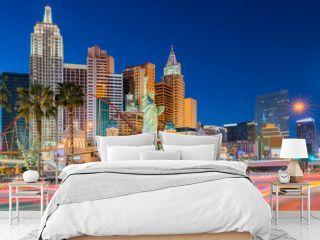 Las Vegas strip sunset