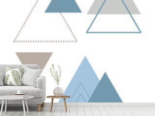 Absctract nordic  triangle geometric design for decoration interior, print posters, card, banner, wrapping in modern scandinavian style in vector