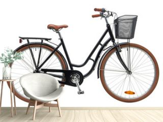 Urban City Bike Woman Bicycle With Carrier and Basket