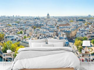 Panorama of city of Paris with cityscape and Paris city view