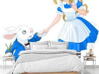 Alice Meets a White Rabbit