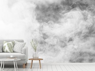 White thick smoke background texture. fog