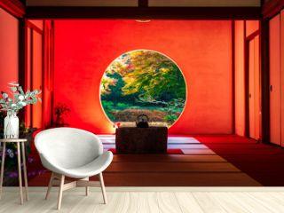 秋の鎌倉 明月院 悟りの窓
