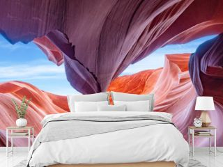Panoramic Abstract background Canyon Antelope near Page, Arizona, America