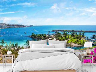 Landscape with Anfi beach and resort, Gran Canaria, Spain