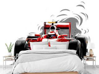 red sport car F1