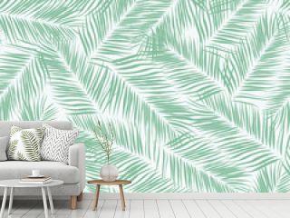 Beautifull tropical flowers seamless pattern design