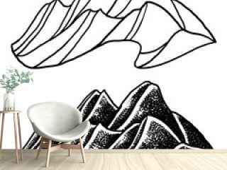 mountains illustration white background