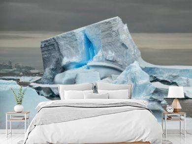 Unique Iceberg with Blue Crack