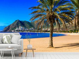 Beautiful beaches of Tenerife - Las Teresitas (near Santa Cruz). Canary islands