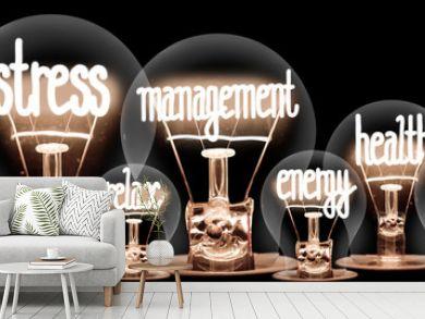 Light Bulbs with Stress Management Concept