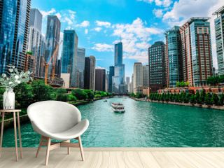 Trump International Hotel & Tower - Chicago by Chicago river against sky