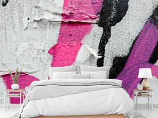 Close-up of urban graffitis painted on wall for  your creative design