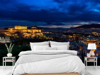 Panorama of Athens by Night