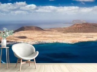 Panorama of La Graciosa island in Canary islands