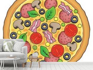 Whole pizza theme image 1