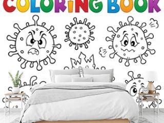 Coloring book viruses set 1
