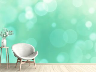 Abstract background banner - blue, green, turquoise blurred bokeh lights