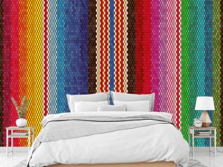 Blanket stripes seamless vector pattern. Background for Cinco de Mayo party decor or ethnic mexican fabric pattern