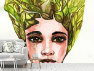 A fantasy portrait of a woman, surreal and multicolored. , surrealism, fancy