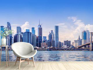 the skyline of manhattan, new york