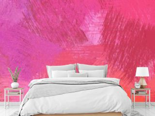 wide landscape graphic with modern brush strokes background with moderate pink, baby pink and pastel magenta. can be used for background, canvas or poster