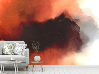 abstract watercolor background with watercolor paint with indian red, antique white and coral colors. can be used as background texture or graphic element
