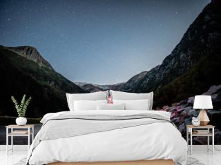 California T6 Bulli Nachthimmel Norwegen