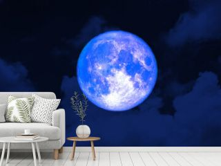 Super strawberry blue moon and night red sky