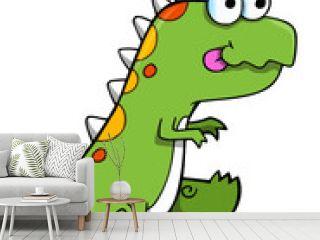 Cute Silly Dinosaur Vector Illustration Art