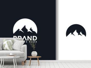 simple mountain silhouette logo