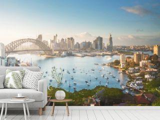 sunrise,  Sydney harbor, New South Wales, Australia
