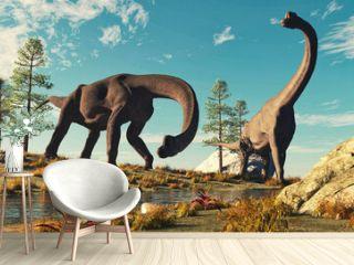 Brachiosaurus in the nature