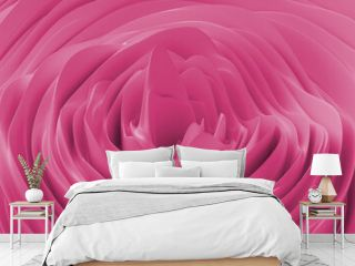 Abstract background with pink noise wave field. Abstract landscape mountain surface. Detailed displaced surface. Modern background template for documents, reports and presentations. 3d rendering