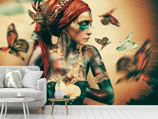 Jaime Ibarra - Woman with butterflies - Summon