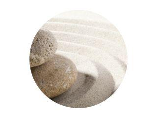 vague zen de sable et pierres