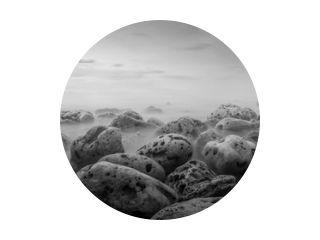 long exposure of sea coast. black and white landscape