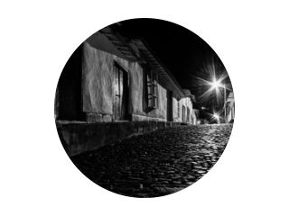 A Little Old Town by Night