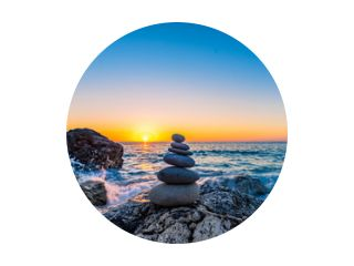 Stacked stones at the beach