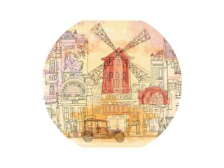 Paris in watercolor, Moulin rouge