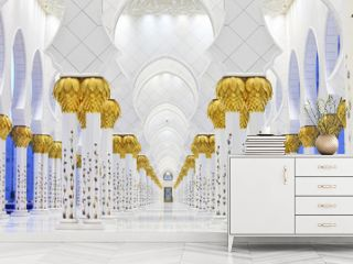 Interiors of Sheikh Zayed Mosque, Abu Dhabi, UAE