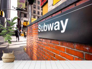 New York City Subway Entrance on Street