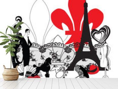miniature symbols of Paris