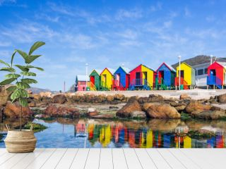 Colourful Beach Houses in South Africa
