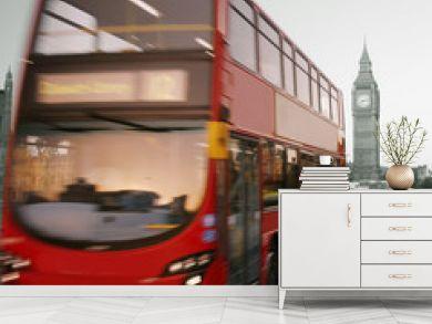 Double Decker Bus, Big Ben in far behind