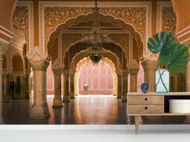 royal interior in Jaipur palace, India